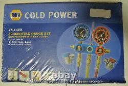 New Sealed Napa Cold Power AC Manifold Gauge Set 78-1400