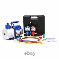 Orion Motor Tech 5CFM Vacuum Pump & Manifold Gauge Set A/C HVAC Refrigerati