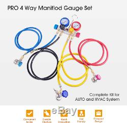 Professional Vacuum Pump Manifold Gauge Set HVAC A/C R12 R22 R134a R410A
