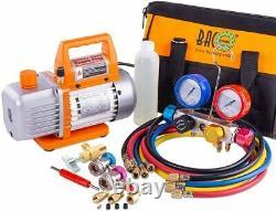 Professional Vacuum Pump Manifold Gauge Set HVAC A/C Refrigeration Kit Diagnost