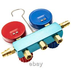 R1234YF HVAC Air Conditioning Manifold Gauge Set With72 Color Hoses A/C