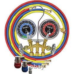 R1234yf 2-Way Brass Manifold Gauge Set ATD-3661