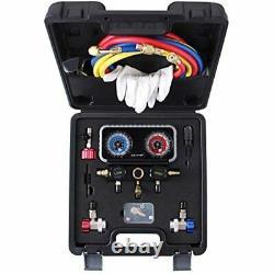 R134A AC Gauge Set, Diagnostic Manifold Compatible R134A R12 R22 R502 FREE SHIP
