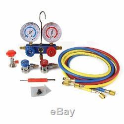 R134A AC Manifold Gauge Set R410a R22 A/C Refrigeration Air Conditioner with Case