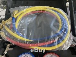 R134A HVAC A/C Refrigeration Kit AC Manifold Gauge Set Auto Service Kit Two Swts