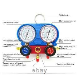 R134A HVAC A/C Refrigeration Kit AC Manifold Gauge Set Car Air Vacuum Pump Air