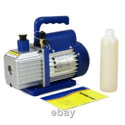 R134A R410a R22 A/C Combo Manifold Gauge Set With 3,5 CFM 1/4HP Air Vacuum Pump