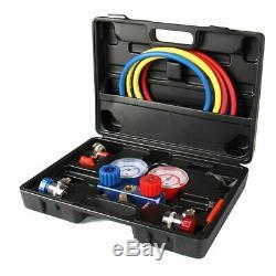 R134A R410a R22 HVAC A/C AC Refrigeration Kits Auto AC Manifold Vacuum Gauge Set