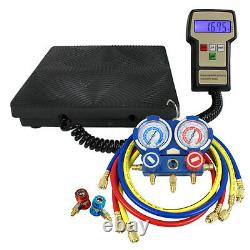 R134a R410a R22 Deluxe Manifold Gauge Set Electronic Digital Refrigerant Scale