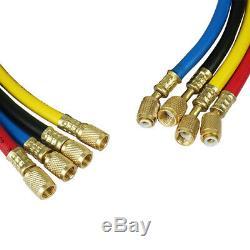 R410 R134 R22 R407C A/C Refrigeration Set Charging Service Gauge Manifold