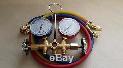 R410a R22 R134a HVAC A/C Refrigeration Manifold Gauge Set 3 3FT Hoses