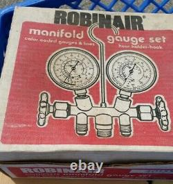 ROBINAIR 2-Way Manifold Gauge Set With 36-in Hoses Model #40155 REFRIGERANT USA
