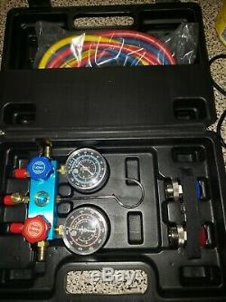 R-134a R-134 R134 AC PRO Refrigerant 429 Professional Manifold Gauge & Hose Set