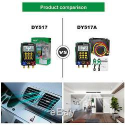 Refrigerant Digital HVAC Manifold Gauge Set Vacuum Pressure Temp Diagnostic Tool