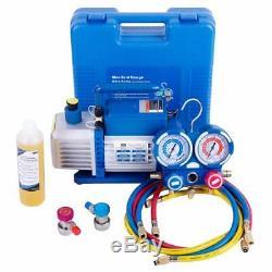Refrigerant recovery machine 1/4HP 3.5/4 CFM vacuum pump HVAC R134a R12 R22 R502
