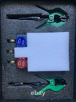 Refrigeration Digital Manifold Gauge Set 3 Valve HVAC Diagnostic Tool Kit R410A
