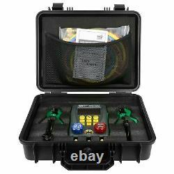 Refrigeration Digital Manifold Gauge Set AC/HVAC Tools WithHose Clamp Kit for Air