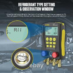 Refrigeration Digital Manifold Gauge Set HVAC Leak Detector Tester Kit R22 R134A