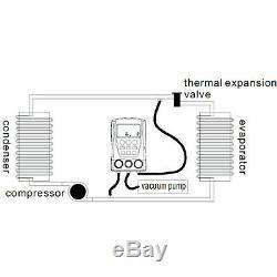 Refrigeration Digital Manifold Gauge Set HVAC Vacuum Pressure Temperature Tester