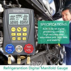 Refrigeration Digital Manifold HVAC Gauge Set Pressure TempVacuum Tester U5X3