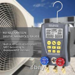 Refrigeration Digital Manifold HVAC Gauge Set Pressure TempVacuum Tester US M1E6