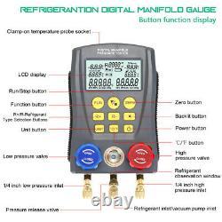 Refrigeration Digital Manifold HVAC Gauge Set Pressure TempVacuum Tester US R8J7