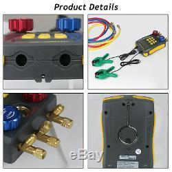 Refrigeration Digital Manifold HVAC Gauge Set Pressure Temperature Vacuum Tester