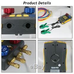 Refrigeration Digital Manifold HVAC Gauges Set Temperature Leakage Tester Tool