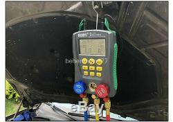 Refrigeration Digital Manifold HVAC/R Gauges Temperature Leakage Tester Set USA