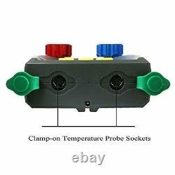 Refrigeration Digital Manifold HVAC System Gauge, High-Precision DUOYI-SET