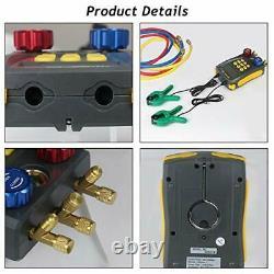 Refrigeration Gauges Digital Manifold HVAC Gauge Set, Vacuum Pressure