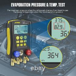 Refrigeration Gauges Digital Manifold HVAC Gauge Set Vacuum Pressure Temp Tester