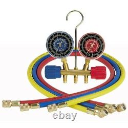 Robinair 40153 Two-Way Wheel Manifold Gauge Set with Hoses
