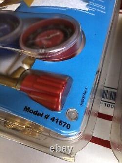 Robinair 41670 R410A Red/Blue Gauge High Pressure Brass Manifold Set- Brand NEW