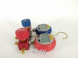 Robinair 43180 Aluminum 2-Way Manifold Digital Gauge Set Used