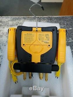 Sman460 Fieldpiece Digital Manifold Gauge Set Hvac Wireless & Clamps Attpc3 Tool