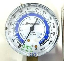 Snap-On AC Manifold Gauge Set with Hoses 85350-SN & 85500-SN (R134a)