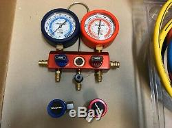 Snap-on Manifold Gauge Set with Hoses ++GREAT CONDITION++