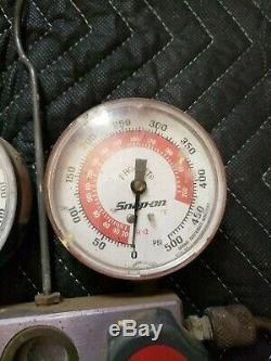 Snap-on Pro-Set AC R12 Refrigerant Manifold Gauge Set AS IS