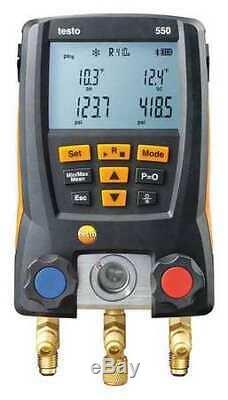 TESTO 0563 1550 550 Digital Manifold Gauge Set