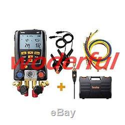 Testo 557 Hoses Digital Manifold Kit with Bluetooth and Set of 4 Hoses