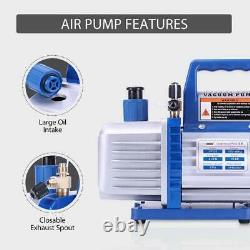 VIVOHOME 3.5CFM Air Vacuum Pump HVAC Refrigerant AC Manifold Gauge Set R134A Kit