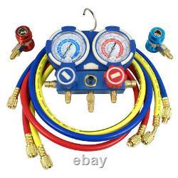 Way Manifold Vacuum Gauge Set 53 R134a R410a R22 A/C AC HVAC Refrigeration KIT