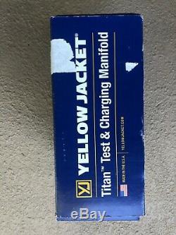 YELLOW JACKET 49967 Mechanical Manifold Gauge Set, 4-Valve