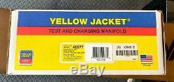 YELLOW JACKET 49977 Aluminum Alloy Mechanical Manifold Gauge Set