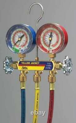 Yellow Jacket 42024 Mechanical Manifold Gauge Set, 2-Valve
