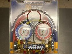 Yellow Jacket 42201 manifold gauge and hose set NIB. Series 41 Test & Charging