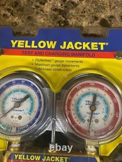 Yellow Jacket Gauge Set 2 Valve Manifold R134a, R507, R404a, MODEL 41312